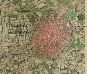 Eski Brugge Haritası - 1770